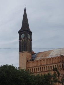 Cathedral spire needing attention